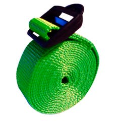 Strap with plastic buckles