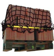 Pallet protection net with strapping
