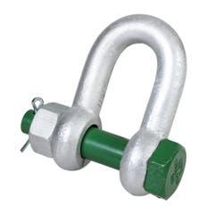 Manille droite avec boulon et goupille Green Pin