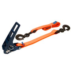 Lashing strap type ABS100 with ABS ratchet and triangle hook